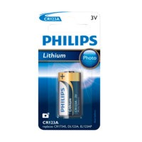 CR123A 3V, 1/pakk., Philips
