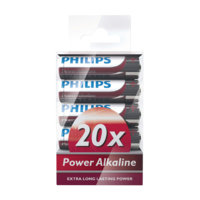 Power Alkaline AA 20/pakk., Philips