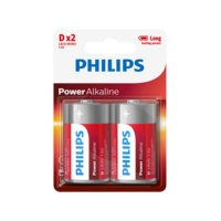 Power Alkaline D LR20, 2/pakk., Philips