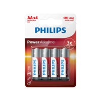Power Alkaline AA LR06 4/pakk., Philips