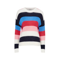 Frida Striped Pullover LS neulepusero, Soaked in Luxury