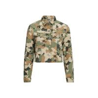 Takki Cropped Rider Jacket Camouflage, Lee