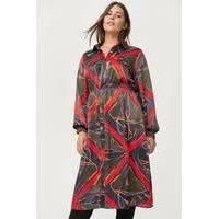 Mekko xScarf Medi Dress, Zizzi