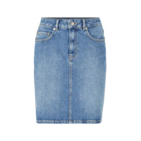 Farkkuhame slfKenna MW Mid Blue Denim Skirt W, Selected Femme