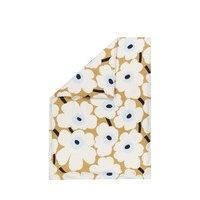 Marimekko Unikko -tuplapussilakana, beige-luonnonvalkoinen-sininen, 240 x 220 cm, marimekko
