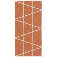 Horredsmattan Viggen muovimatto oranssi 70 x 50cm