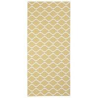 Horredsmattan Wave muovimatto keltainen 70 x 50cm