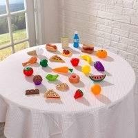 """KidKraft 30-osainen ruokasetti """"Play Food"""" leikkikeittiöön"""