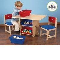 """KidKraft pöytä ja kaksi tuolia + säilytyslaatikot """"Tähdet"""""""