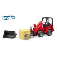 Bruder Schäffer Compact -traktori + heinäpaali
