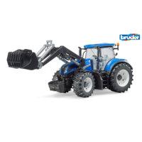 Bruder New Holland T7,315 -traktori + etukaivuri