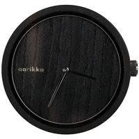 Aarikka-rannekello, unisex, halk. 47 mm, musta, aarikka