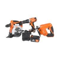 Daewoo 3-osainen akkutyökalusetti - settiin kuuluu 4Ah akku ja laturi, daewoo power tools