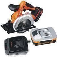 Daewoo akkupyörösaha + 4 Ah akku ja laturi, daewoo power tools