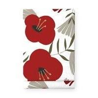 Finlayson Anni pöytäliina, 145x250, valkoinen/punainen, finlayson