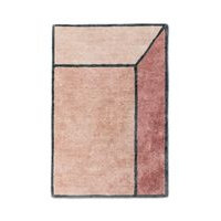 Rug Solid Illusion - matto, roosa, 140 x 200 cm