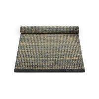 Rug Solid Jute Leather - matto, tummanharmaa, 65 x 135 cm