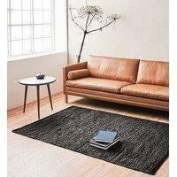 Rug Solid Leather - matto, tummanruskea, 60 x 90 cm
