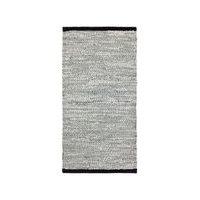Rug Solid Leather Contrast - matto, vaaleanharmaa, 65 x 135 cm