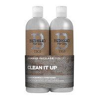 Tigi Bed Head For Men Clean Up Tweens tuplapakkaus shampoo + hoitoaine 2 x 750 ml, tigi