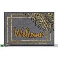 Ovimatto Welcome Gold Leaves 50x75 cm, Salonloewe