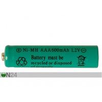 Aurinkoenergialla ladattava Ni-MH akku AAA 1,2 V (2 kpl)