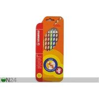 Oikeakätisen STABILO värikynät, 6 väriä+teroitin, Stabilo