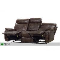 3-istuttava sohva Relax23, tummanruskea, BM