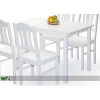 Ruokapöytä PER 120x70 cm, valkoinen, eco