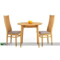 Tammi ruokapöytä Scan Ø85 cm+ 2 tuolia Sandra harmaa, eco