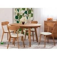 Jatkettava ruokapöytä tammi Basel 110x110-160 cm, eco