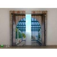Puolipimentävä verho Beautiful Old Greece, 240x220 cm, Wellmira
