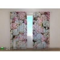 Puolipimentävä verho Flowers Background 240x220 cm, Wellmira