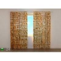 Puolipimentävä verho Old Egyptian Drawings 240x220 cm, Wellmira