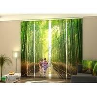 Puolipimentävä paneeliverho Bamboo Forest of Arashiyama 240x240 cm, Wellmira