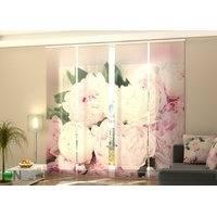 Puolipimentävä paneeliverho Fresh Pink Peonies 240x240 cm, Wellmira