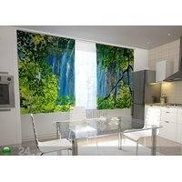Läpinäkyvä verho WATERFALL BEHIND THE WINDOW 200x120 cm