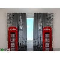 Puolipimentävä verho LONDON TELEPHONE 240x220 cm