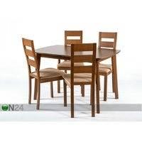 Jatkettava ruokapöytä Bari 80x120-150 cm ja 4 tuolia PARMA, pähkinä, GO