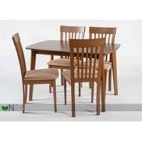 Jatkettava ruokapöytä Bari 80x120-150 cm ja 4 tuolia MODENA, pähkinä, GO