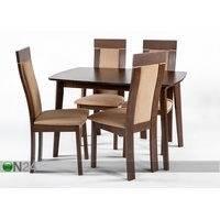 Jatkettava ruokapöytä Bari ja 4 tuolia Imeria, vaalea wenge, GO