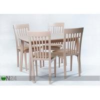 Jatkettava ruokapöytä Bari + 4 tuolia Modena, vaalea pyökki, GO