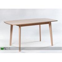 Jatkettava ruokapöytä Bari 80x120-150 cm, valkoinen pyökki, GO