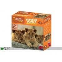 Palapeli 3D Afrikan leijonat 63 osaa, Kidicraft