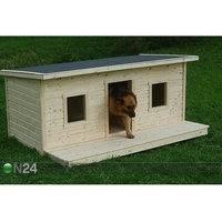 Lämpöeristetty koirankoppi terassilla CHARLY 2-le koiralle, Koerakuut