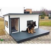 Lämpöeristetty koirankoppi terassilla Boss 4, Koerakuut