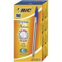 Kuulakynä Bic Cristal M sininen Medium-kärki 50 kpl