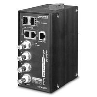 Planet LRP-422CST IPv4/IPv6, 4-Port Coax + 2xGbit+2xSFP Managed Switch, PoE 150W