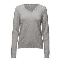 Viril V-Neck L/S Knit Top - Noos Neulepaita Harmaa Vila