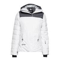 Kilta W Dx Warm Ski Jacket Vuorillinen Takki Topattu Takki Valkoinen Halti